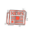 cartoon newspaper icon in comic style news sign vector image vector image