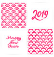 chinese new year yellow earth swine 2019 a set of vector image