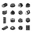 chocolate candy confectionery assortment black vector image