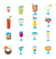 cocktail drink 3d icons set isometric view vector image vector image
