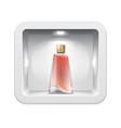cosmetic exhibition stand realistic perfume vector image