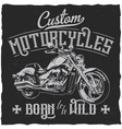 custom motorcycles vintage label poster vector image