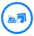 demolition rounded grainy icon vector image