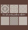 fair isle white beige brown seamless pattern set vector image vector image