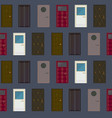 flat building exterior elements seamless pattern vector image