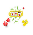 flat casino gambling symbols set vector image vector image
