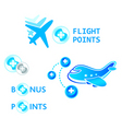 flight points vector image