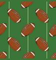 football rugball seamless pattern hand drawn vector image