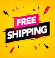 Free shipping label modern dynamic sales banner