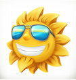 fun summer sun 3d icon vector image vector image