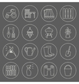 gardening icons unique and modern set isolated vector image