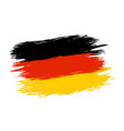 germany flag in grunge style vector image vector image