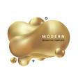 golden trendy concept vector image vector image