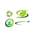 green project template set vector image