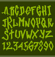 hand drawn grunge font paint symbol design vector image