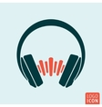 Headphones sound wave vector image vector image