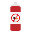 honey wood bee repellent spray bottle icon insect vector image