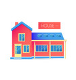house facade building front view cottage concept vector image