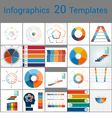 Infographics 20 Templates text area 53 positions vector image vector image