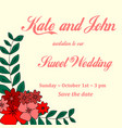invitation card for wedding birthday with vector image vector image