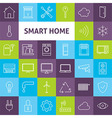Line Art Smart Home Icons Set vector image vector image