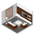 Living room isomertic detailed set vector image vector image