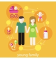 Lovely young family concept vector image vector image