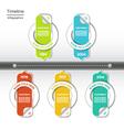 Modern timeline design template eps 10 vector image vector image