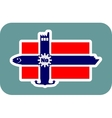 Norway national flag with icons vector image