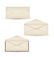 Open vintage long envelope vector image
