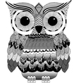 owl print Gothic fashion trend black white vector image vector image