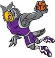 owl sports logo mascot basketball vector image vector image