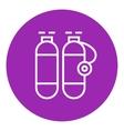 Oxygen tank line icon vector image