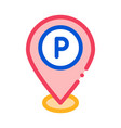 parking geolocation icon outline vector image vector image