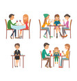 people in restaurant vector image vector image