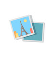 picture from journey to paris with eiffel tower vector image vector image