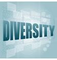 pixelated words diversity on digital screen - vector image vector image