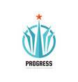 progress - abstract logo design elements vector image vector image
