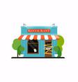 restaurant is closedbankrupt flat design modern vector image