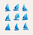 sailing icon set vector image