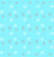 seamless a blue background with snowflakes in vector image vector image