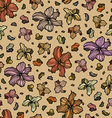Seamless pattern with beautiful abstract flowers vector image vector image