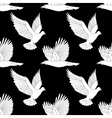 Seamless pattern with flying raven and dove vector image vector image