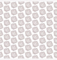 seamless pattern with seashell on white vector image vector image