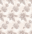 Seamless pattern with vintage flowers vector image