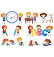 set of doodle kids activity vector image vector image