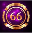 sixty six years anniversary celebration with vector image