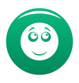smile icon green vector image