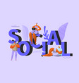 social media people chatting in social network vector image vector image