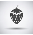 Strawberry icon on gray background vector image vector image